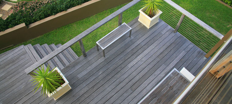 Balcony timber deck