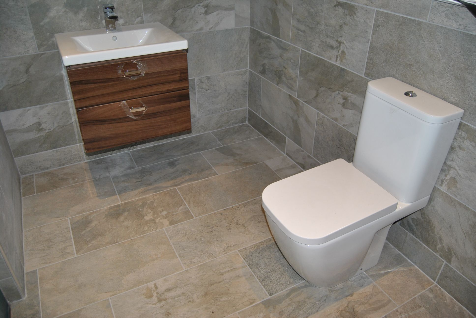 bathroom ceramic floor and wall tiling