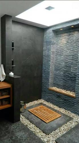 Bathroom stone cladding