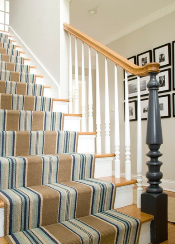 Carpet covered staircase
