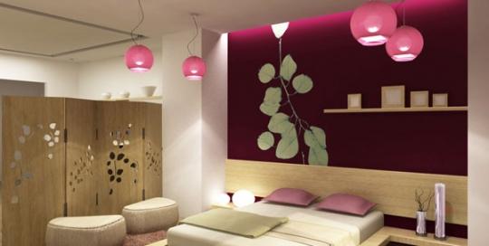 Comfortable japanese style bedroom interior design