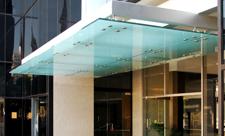 Hanging style glass canopy