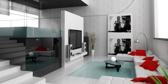 Large luxury living room interior design