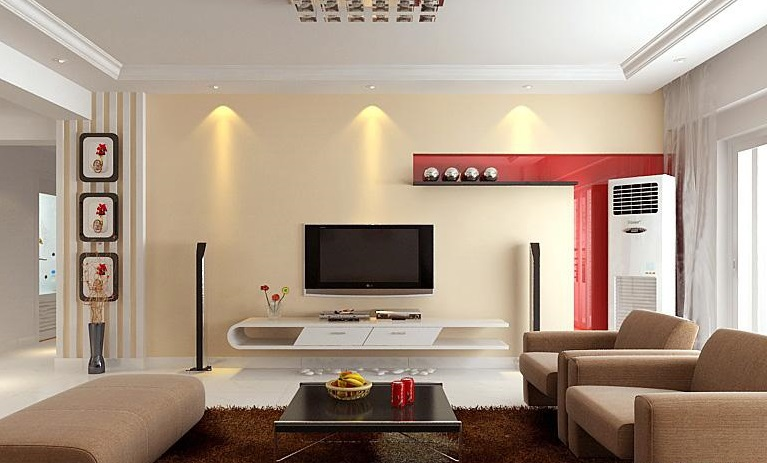 Living Room Interior Design And Furnitures Layout