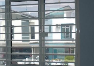 Mild steel window grille with white painting color