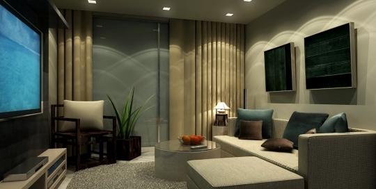 Modern minimalist small living room