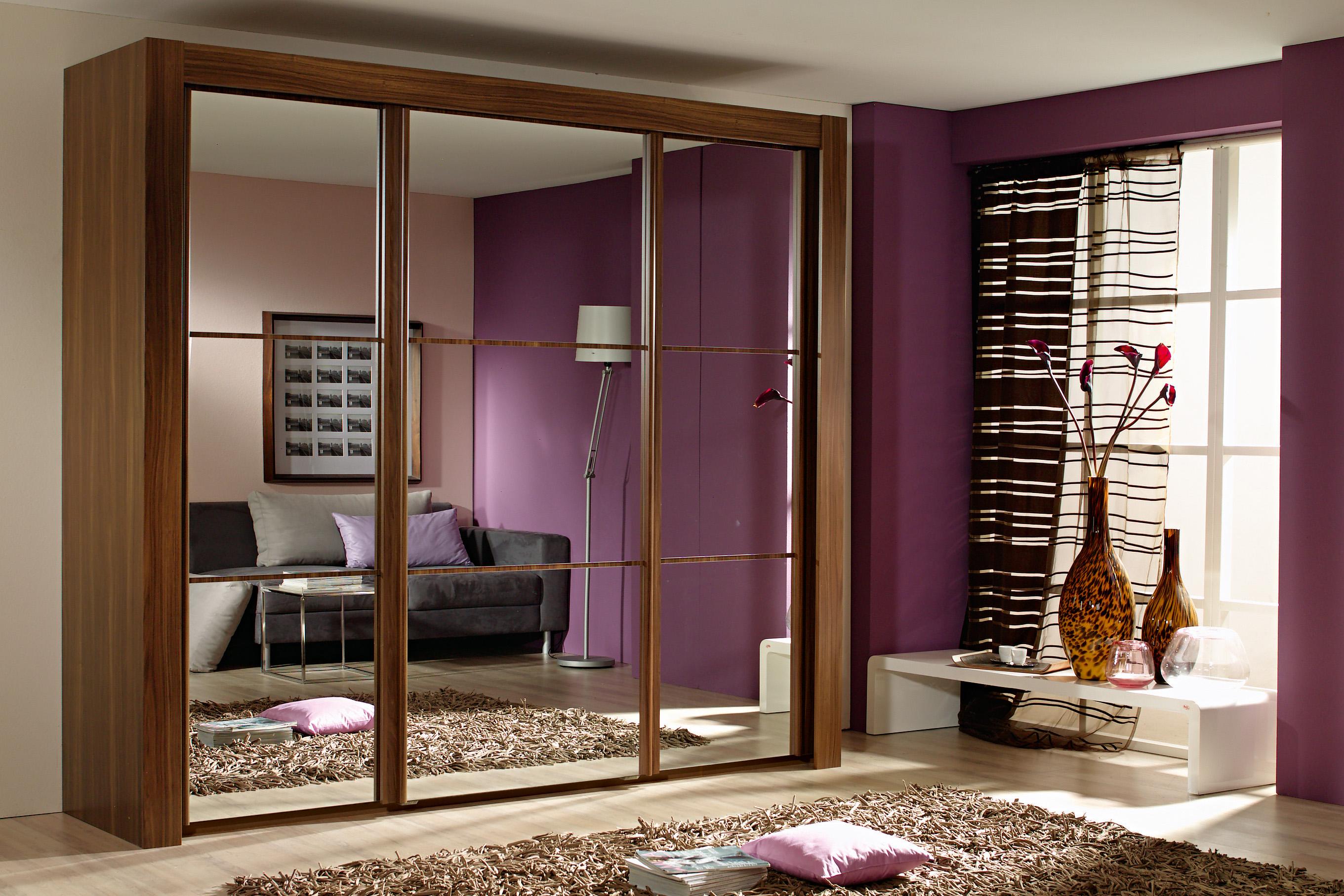 Elegant Modern Style Mirror Door Wardrobe