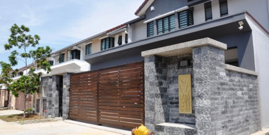 Outdoor wall stone cladding