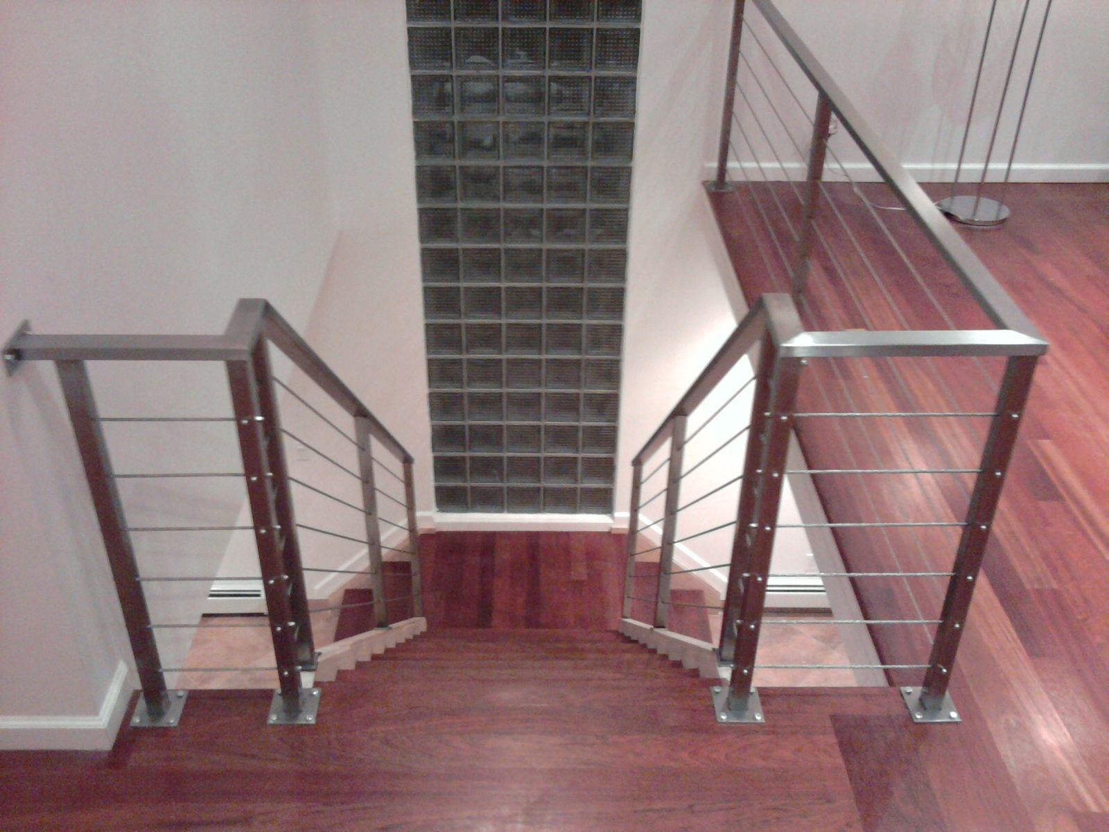 Stainless steel frame with cable railing