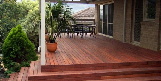 Timber Deck with timber staircase