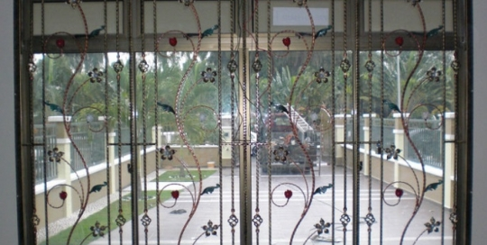 Wrought iron window grille 1