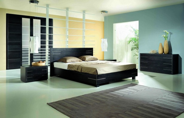 Apple green with black matching theme master bedroom