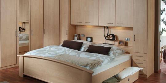 Master bedroom wood theme interior design and unique furniture