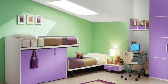 Modern minimalist kids bedroom interior design