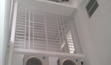 Mild steel balcony grille with white color painting