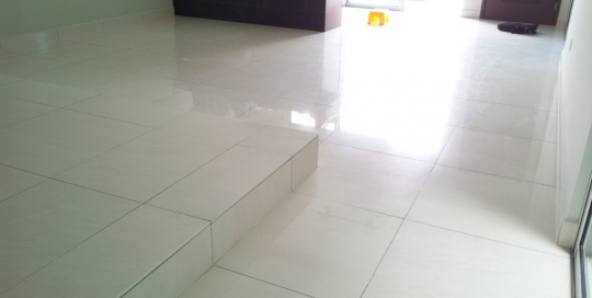 Dining area and kitchen ceramic floor tiles