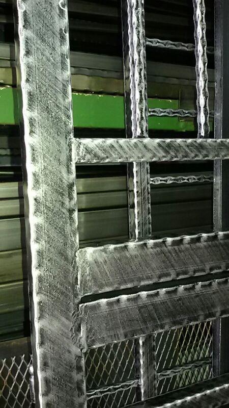 General design solid black color wrought iron door grille 3