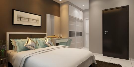 Contemporary & Cozy Master bedroom