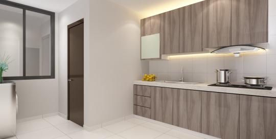 Apartment space saver concept kitchen design