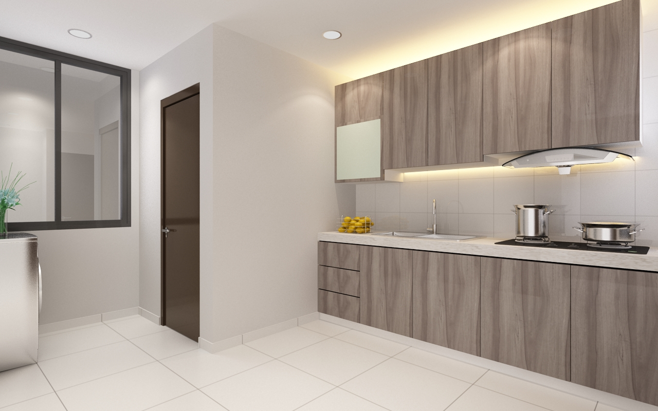 Apartment space saver concept kitchen design