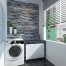 Apartment Stone Cladding Theme Laundry Back Yard
